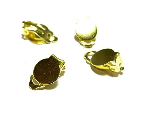 perlesmania.com, Pax S1179801 -30  Orecchini a clip con base liscia, 10 mm
