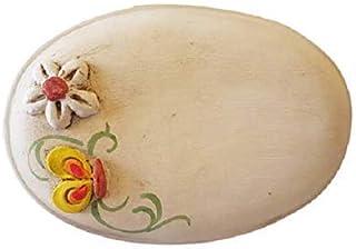 Targa per porta in ceramica linea fiori e farfalle personalizzabile, regalo per casa nuova
