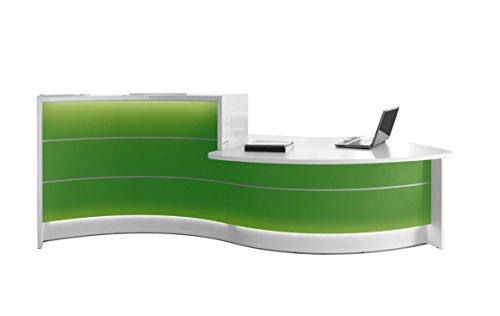 Tressa lav32 Ontvangstbar met ledverlichting, reception in wit en andere kleuren verkrijgbaar, ontvangstbezoek, kantoortheke