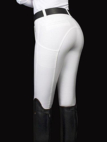 Equiline Reithose X-Shape Half Grip | Farbe: white | Größe: 38 (42)