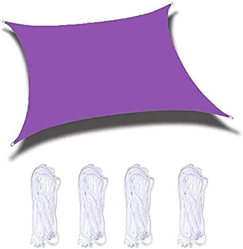 MAGFYLY YPYGYB - Toldo rectangular de vela para plantas, impermeable, 95% bloqueo UV, para patio, jardín, patio trasero (tallas personalizadas), A-2 x 2 m (color: E, tamaño: 5 x 5 m)