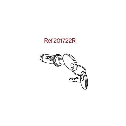 Shad 201722R Recambio Conjunto Bombin y Llaves para Cerradura Standard, Plata