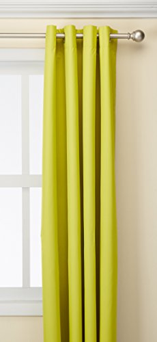 Deconovo Home Decorative Curtains Grommet Top Thermal Curtain with Backside Silver Backing for Boys Room Limeade 52 x 84 Inch 1 Panel