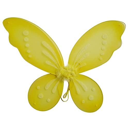 Balight 1 pieza de alas de hada de mariposa, alas de vestir, accesorio para fiesta de cumpleaños, disfraz de mariposa para niñas, disfraz de hada de Halloween, ropa