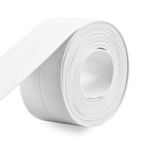 防水テープ 2巻 セット 隙間テープ 補修テープ 防カビ キッチン 浴室 台所 コーナーテープ シンク お風呂 浴槽まわり トイレ用 防水 防カビ 隙間風防止 ホワイト (22mm×3.2m 2個)