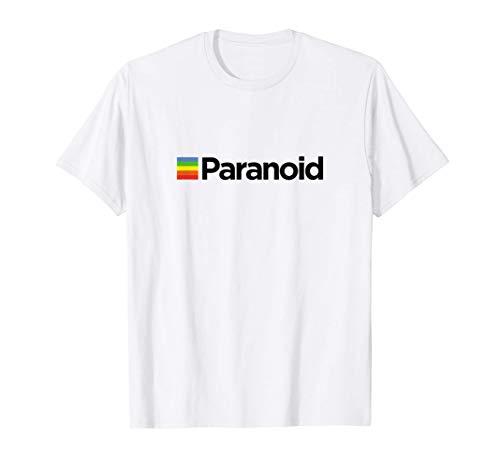 Paranoid - Aesthetic Vintage Vaporwave Fashion T Shirt T-Shirt