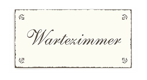 SCHILD Dekoschild « WARTEZIMMER » Shabby Vintage Holzschild Türschild -