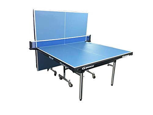 Gymnco Regular Table Tennis Table with Wheel (Laminated Top 25 mm) (Free TT Table Cover + 2 TT Racket & 1 Balls)