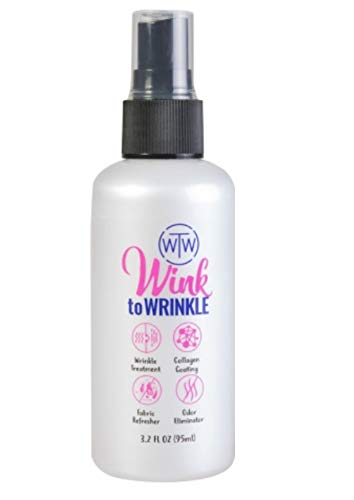 All in One Wrinkle Release Spray for Clothes Travel Size,Wink To Wrinkle-Best Wrinkle Treatment,Odor Eliminator,Refresher,Anti Bacterial,Collagen Coating,Everyday use Iron Free Wrinkle Release(95ML)