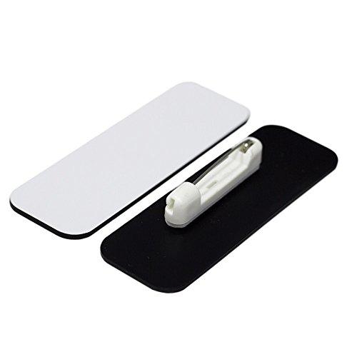 Name Tag/Badge Blanks - 25 Pack - White 1