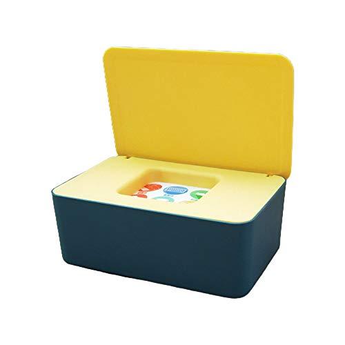 deendeng Caja de pañuelos multifuncional, caja de almacenamiento de pañuelos para bebés, dispensador de toallitas húmedas, funda de almacenamiento a prueba de polvo para el hogar, dormitorio, oficina