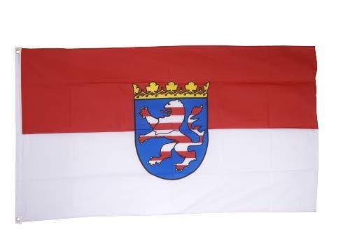 Flaggenfritze® Fahne Flagge Hessen 90 x 150 cm Premiumqualität