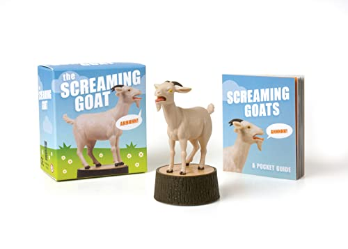 mini screaming goat figurine bobble head adult gift idea