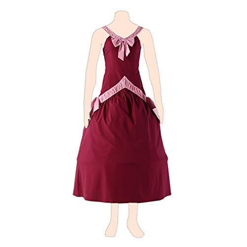 Fairy Tail Cosplay Costume Mirajane Strauss Ver.1 Red Dress Kid Small