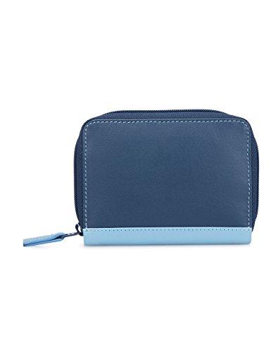 Portacarte unisex in pelle - MYWALIT - Zipped Credit Card Holder - 328-127 - Royal