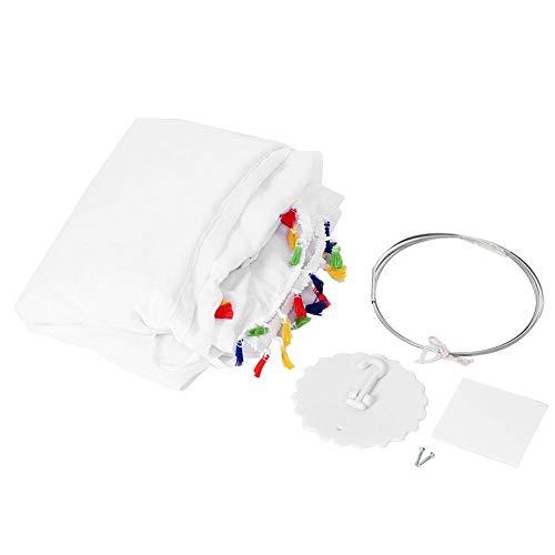 Bedluifel, kinderbedluifel Hangende koepel Klamboe Gordijn Slaapkamerdecoratie Tent(240CM 50CM-Kleurrijke tent met kwastjes)