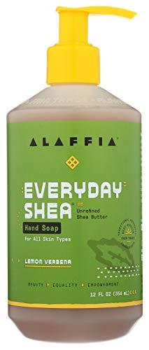 Alaffia EveryDay Shea Liquid Hand Soap, Lemon Verbena. Cleanse, Moisturize and Refresh Hands. Made...