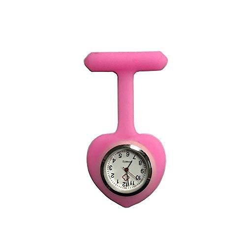 HYY-YY. Krankenschwester-Uhr-Brosche Krankenschwester-Uhr-Brosche Silikon mit Pin/Clip Glow In Dark Infection Control Design Health Care Nurse Doktor Medical Sporter Taschen-Uhr (Farbe: blau)
