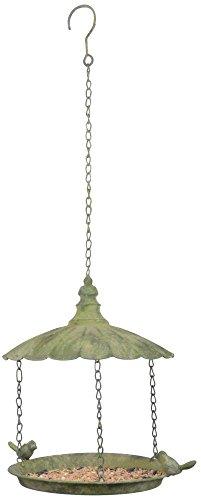 Esschert Am84 en métal vieilli Vert à suspendre pour oiseaux