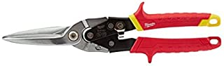 Milwaukee 48-22-4537 48224537 Metal Aviation Snips Extra Long Straight Cut, Red