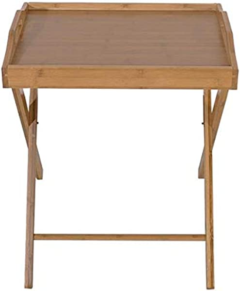 QCUTEP Folding TV Tray Table Bamboo Snack Table Portable Assembled Tray Table For Breakfast Table Laptop Table