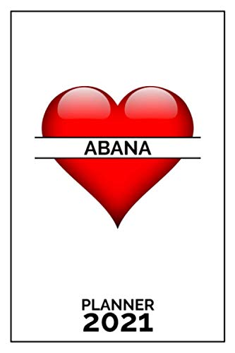 Abana: 2021 Handy Planner - Red Heart - I Love - Personalized...