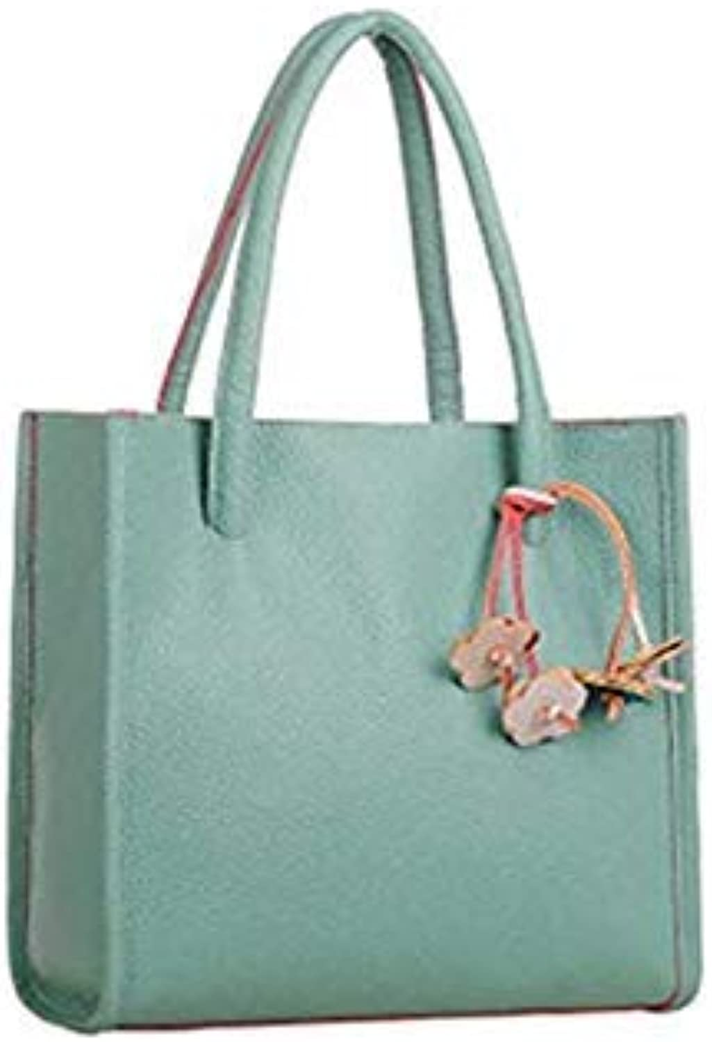 Bloomerang New Bags Simple Larger Shoulderbag Female Leather Women Casual Bag Messenger Fashion Lady Laptop Handbag Multifunctional TASS 8 color Green