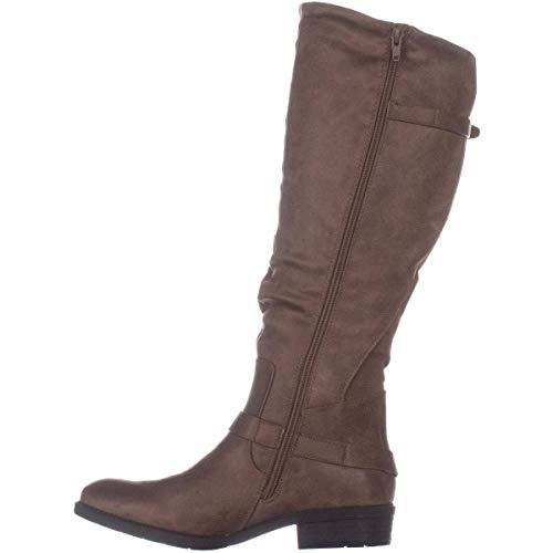 BareTraps Womens Yanessa Almond Toe Knee High Fashion Boots, Taupe, Size 7.5