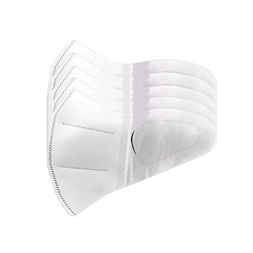 Kuyao 1/5/10 PCS - 3 capas, protección respiratoria, protección contra el polvo, protección facial desechable engrosada