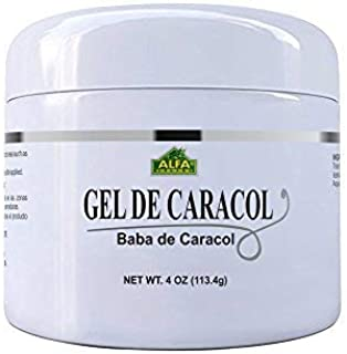 Gel De Caracol Cream 4 Oz By Alfa Vitamins. Snail Gel with Allantoin and Vitamin