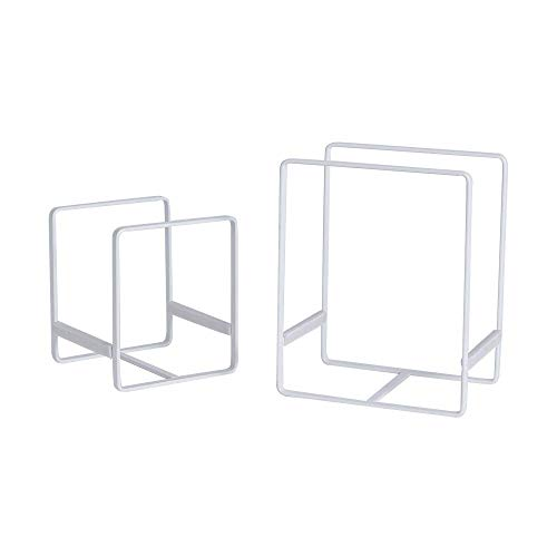 THMY Plate Holders Organizer White Cabinet Dish Drying Rack For Counter top and Cupboard (Small & Large)