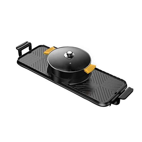 31hN3+GyxeL - CJTMY Elektro-Heizung Runde-Segment Hot Pot, Dual-Purpose Pan, Drehschalter, einteiliger Pan, Geeignet for mehr als 6 Personen
