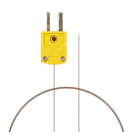 PerfectPrime TL0201, 0,1mm de Diametro, Sonda de sensor de tipo K para termometro/medidor de termopar tipo K en rango de temperatura de hasta 200°C/392°F