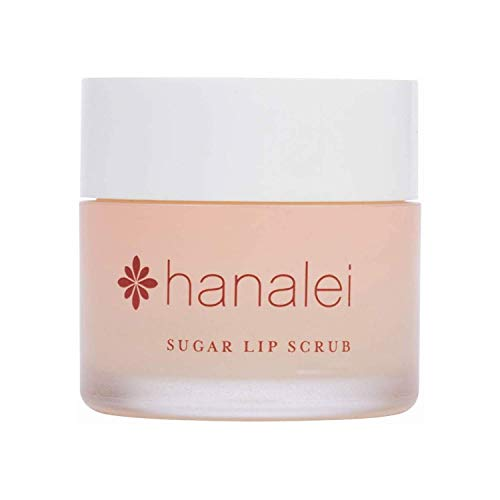 Hanalei Sugar Lip Scrub Exfoliator: Dry Lip Care Made with Hawaiian Raw Cane Sugar, Hawaiian Kukui Nut Oil and Shea Butter for Dry Lips(Cruelty free, Paraben free) - 22 Grams