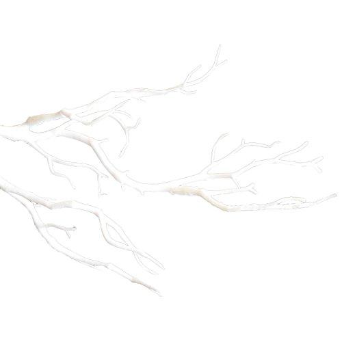 pu ran Kleiner getrockneter Baum, künstlicher Zweig, Kunstpflanze, Basteln, Hochzeit, Party, Heimdekoration, Weiß