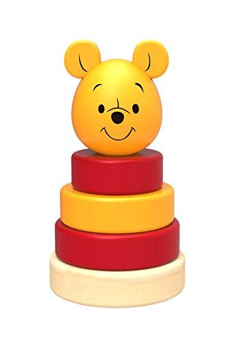 Disney Winnie l'ourson Jouet à empiler Winne The Pooh en Bois, TY017, Multicolore