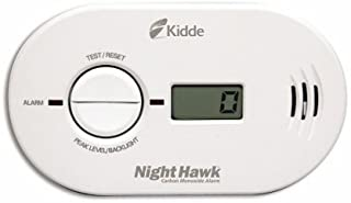 Kidde 21007267 Nighthawk Carbon Monoxide Alarm, Battery Operated with Digital Display | Model KN-Copp-B-LS