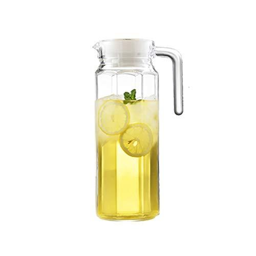 YIFEI2013-SHOP Jarra de Agua Jarrafa de Cristal Engrosada con Mango Anti-escaldado Jarra de Vidrio Transparente para Jugo de Limonada Vino Leche café Caliente/Agua fría Jarras