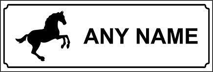 Gepersonaliseerde Paard Stabiele Deur Sign/Plaque/Naam Plaat Waarschuwing Stickers Labels, Zelfklevende Vinyl, Samengestelde Ultra Hi-Duurzaamheid Teken - 30x10CM
