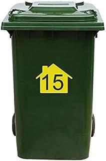 Kliko Sticker/Vuilnisbak Sticker - Nummer 15-22 x 17,5 - Geel