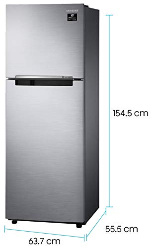 Samsung 253 L 2 Star Inverter Frost-Free Double Door Refrigerator (RT28T3042S8/HL, Elegant Inox(Light Doi Metal))