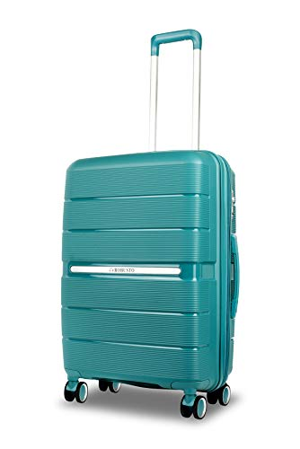 Vienna Durable Hard Shell Suitcase (Apple Green) 24 Inch Expandable Medium Spinner Luggage, 61 cm, 4 Wheels, M Suitcase with 5 Year Warranty