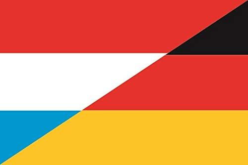 U24 Fahne Flagge Luxemburg-Deuschland Bootsflagge Premiumqualität 80 x 120 cm