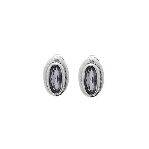 Pendientes Uno de 50 THE BRAVE Colección MASSAI piedra SWAROVSKI® gris Silver Night