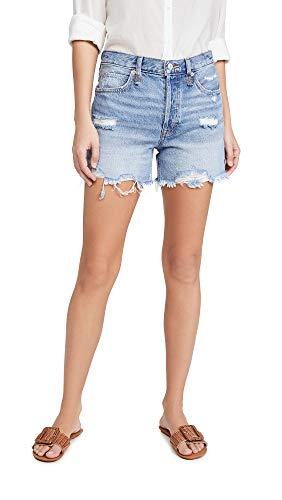 Free People Women's Makai Cutoff Jean Shorts, Twist and Shout, Blue, 26