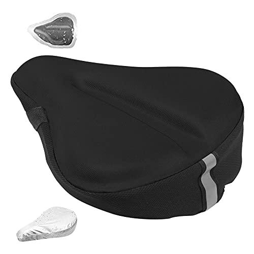 Grande morbido cuscino per sedile della bici, ampio cuscinetto in gel morbido per esercizi, ampio cuscino in schiuma per bicicletta, adatto a cruiser, cyclette, ciclismo all'aperto