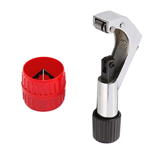 Tubing Cutter Inner-Outer Reamer Kit for 1/4 to 1-5/8 Inch Pipe with Deburring Tool for Copper PVC