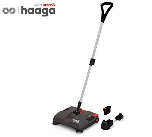 Akku-Kehrbesen Haaga 137 accu, gewerbliche akkubetriebene Kehrmaschine für eine schnelle und kabellose Reinigung innen und außen