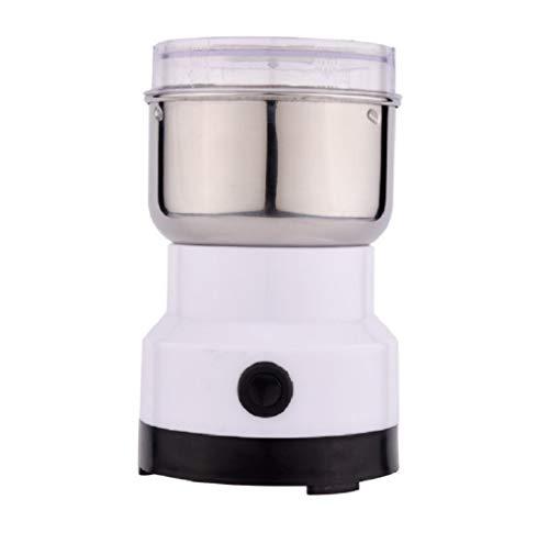 Lalia Elektrische Kaffeemühle Kaffeebohnen Nüsse Gewürze Getreide Mühle mit Edelstahlmesser 50g Fassungsvermögen (schwarz) Schlagmesser Mühle