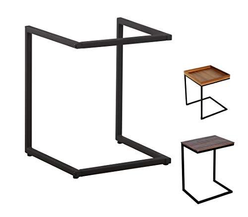 CasaXXl Beistelltisch Gestell aus Metall in schwarz oder weiß - Robustes Tischgestell perfekt geeignet für Couchtisch, Kaffeetisch, Nachttisch - 38 x 38 x 47,5 cm (Schwarz)